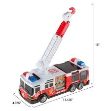 go lights for trucks toy fire truck with extending ladder battery powered lights siren