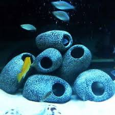 cichlid resin aquarium rock cave ornament fish tank
