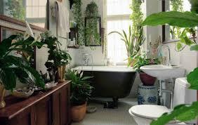 Bathroom Natural Natural Indoor Bathroom Plant Decoration Ideas With Cozy Brown