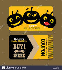happy halloween vector happy halloween sale coupon voucher and tag vector illustration