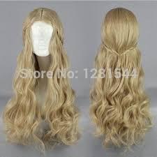 new movie maleficent wig princess aurora long wavy mixed blonde