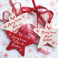 personalised teachers christmas star gifts christmas stars