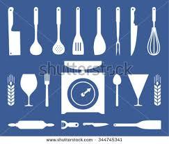 Kitchen Utensils Design by Set Kitchen Utensils Icon Flat Design Stock Vector 344302613