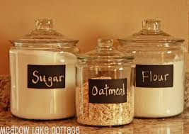 containers for flour and sugar