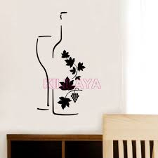 stickers cuisine stickers cuisine wine design vinyl wall decals removable wallpaper