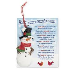 the meaning of the snowman ornament pkg of 12