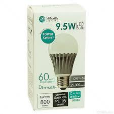 led 9 5 watt a19 60w equal stark white sunsun