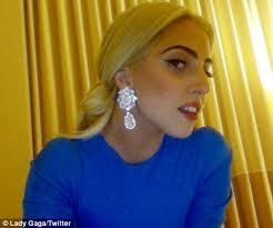 gaga earrings gaga looks worn out as she shows dirt cheap plastic