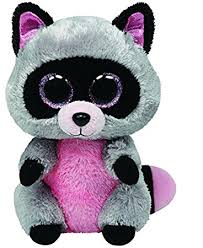 amazon ty beanie boos rocco raccoon 15cm toys u0026 games