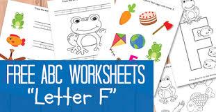 letter f worksheets free kids printable