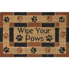 Wipe Your Paws Coir Doormat Two Cats Door Mat 30x18 Free Shipping On Orders Over 45