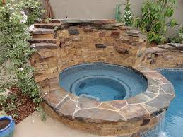 entertainment backyard with pool and spa gemini 2 landscape