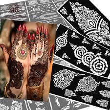 online shop 10 stücke henna tattoo schablonen mehndi indische