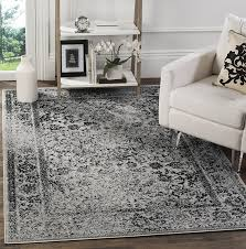 9 X 6 Area Rugs Amazon Com Safavieh Adirondack Collection Adr109b Grey And Black