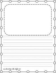 free lined paper with space for story illustrations kinderland