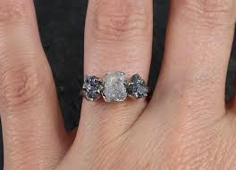 black gold wedding sets custom diamond engagement ring 14k white black gold