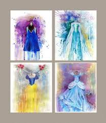 children art print cinderella dress kids art print disney art