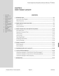 chapter 9 ferry transit capacity transit capacity and quality