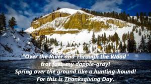 the river and through the wood thanksgiving lyrics words best
