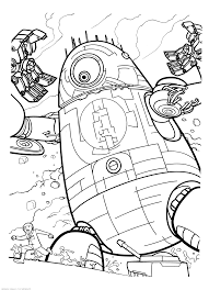 monsters vs aliens coloring pages to print 5589
