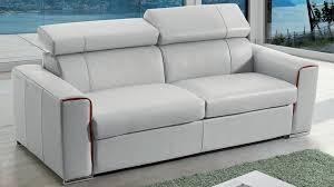 canapé lit matelas épais canapé lit rapido en cuir avec matelas 18 cm verysofa renoir