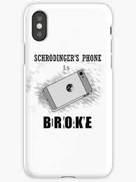 okay phone schrodinger s phone is okay iphone cases skins by femnar