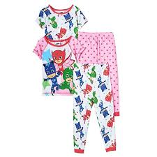 pj masks toddler girls owlette catboy u0026 gekko 4 piece pajama