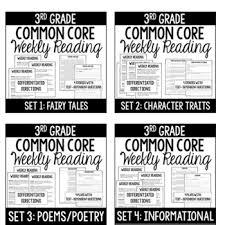 grade reading homework bundle reading comprehension review