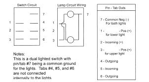 nav anc rocker switch carling contura ii illuminated new for