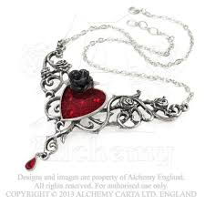 black rose pendant necklace images Blood rose heart necklace alchemy gothic dark romance pendant jpg
