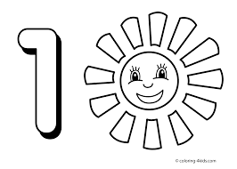 1 numbers coloring pages for kids printable free digits coloring