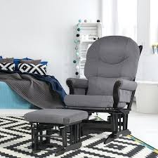 Glider And Ottoman Set For Nursery Fantastic Glider Ottoman Set Grey Reclining Sleigh Glider And