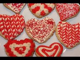 Valentines Day Decorated Cookies by Valentines Heart Shaped Sugar Cookies Decoration Youtube