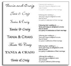 wedding invitations font theme wedding invitations tania and craigs personalised