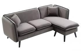 canapé d angle gris anthracite canapé d angle modulable en tissu gris pièce à vivre