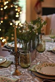 simple rustic christmas tablescape high heels to wheels