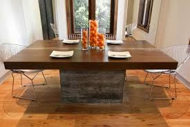 concrete and wood dining table eden custom concrete and wood dining table rectangular rd co