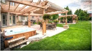 backyards compact tub patio designs ideas privacy backyard