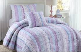 shabby chic ruffled lavender blue girls bedding twin quilt set