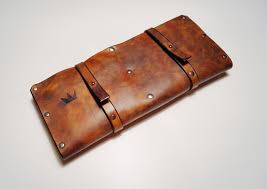 American Made Kitchen Knives Leather Knife Roll Knife Case Cheffs Roll Chefs Bag Knives