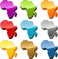 Africa Continent Map by Africa Continent Map Icon Button Multicolored Illustration Set