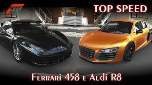 Ferrari 458 Top Speed - top speed ferrari 458 e audi r8 forza motorsport 5 pt br
