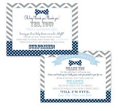 bow tie baby shower postcard thank you note until i u0027m 5