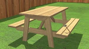 How To Build A Round Wooden Picnic Table by How To Build A Picnic Table 13 Steps With Pictures Wikihow