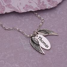 handmade angel necklace images Handmade personalised silver name necklace with angel wings by jpg