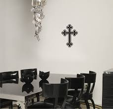 Chandelier Wall Stickers Amazon Com Cross Wall Decal Religious Sticker Home Kitchen