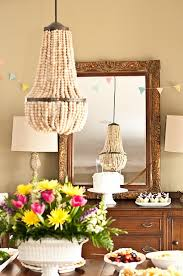 Beaded Chandelier Diy Living Livelier Beaded Waterfall Chandelier Diy