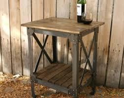 Handmade Industrial Furniture - vintage handmade wood metal industrial coffee table