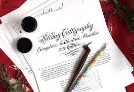 calligraphy printable exemplar worksheet the postman u0027s knock