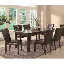 brown marble dining table steal a sofa furniture outlet los